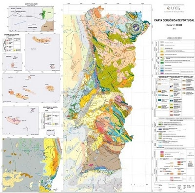 Portugal Geology Map - Portugal geology map