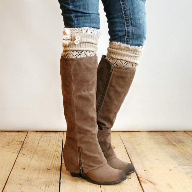 leg warmers with boots.....love this!!!! Leg warmers are on their way!!!!!