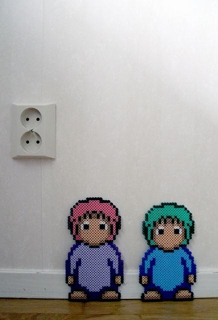 Lemmings hama beads by Alexandra Jau