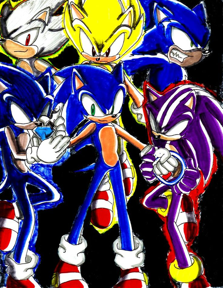 Different types of Sonic transformations: Sonic, Super ...