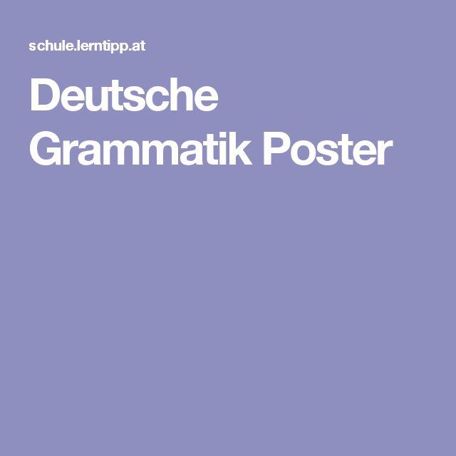 Deutsche Grammatik Poster
