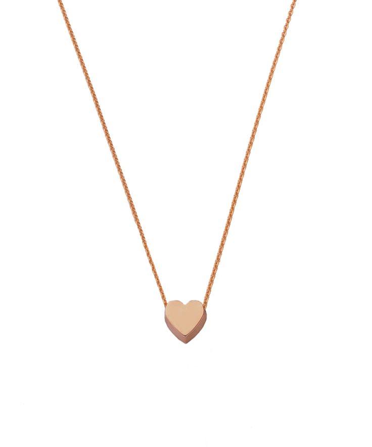 Joy de la Luz initial collier 14K gold | heart roségold
