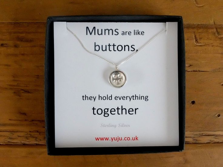 Silver Button Necklace with Quote, Little Button Necklace, Personalised Quote Gift, Stocking Filler for Mum, Mums are Like Buttons Gift by YujuUK on Etsy