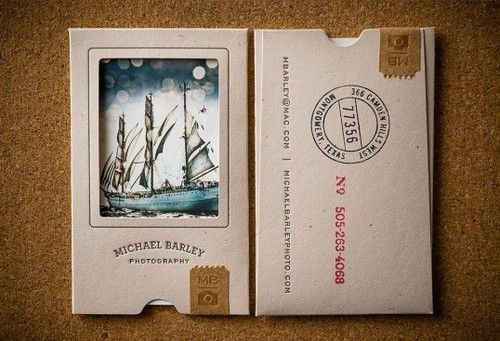 picture frame business card...love  Creative vintage looking business card
