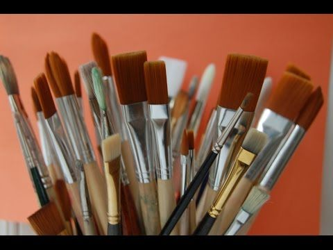Cómo elegir pinceles para pintar al óleo. Curso de pintura. - YouTube
