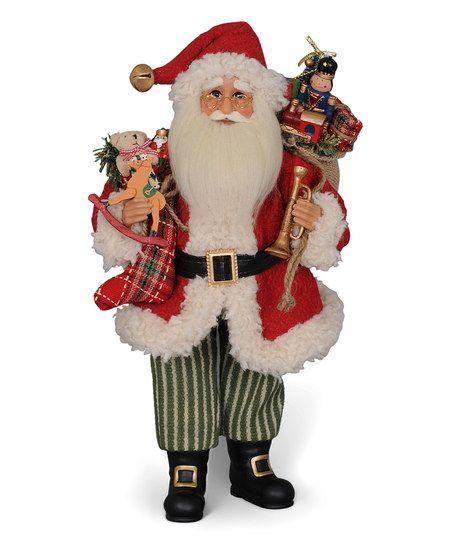 Karen Didion Vintage Evergreen Santa Figurine | zulily