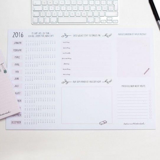 #Schreibtischunterlage mit #Kalendarium in Rosa - #odernichtoderdoch