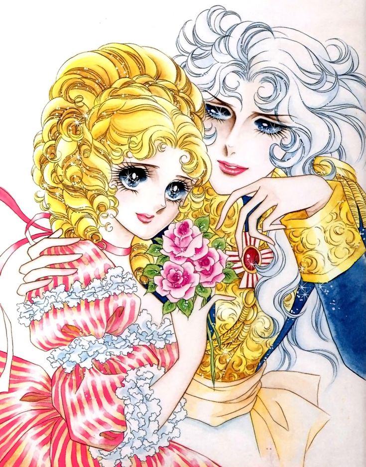 Marie Antoinette and Oscar from The Rose of Versailles manga by Riyoko Ikeda
