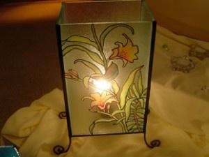 Luminária com falso vitral debiscuit!