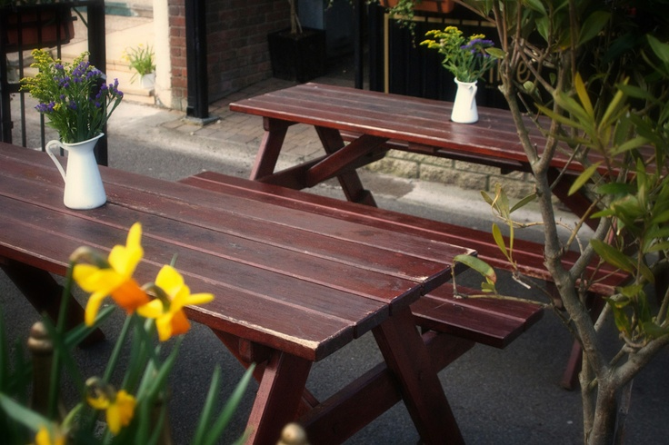 Picnic terrace at Olive Deli & Cafe Skerries