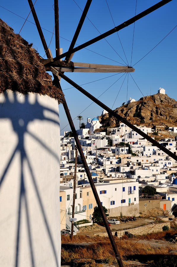 Windmill of Ios Island, Greece