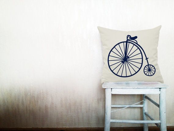 Bicycle throw pillows decorative throw pillows by HomeLivingIdeas, $35.40