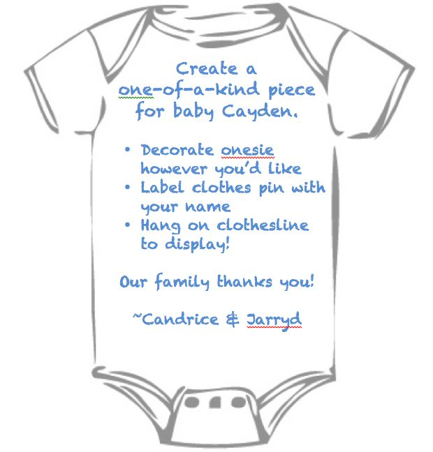 Instructions For Onesie Decorating Table