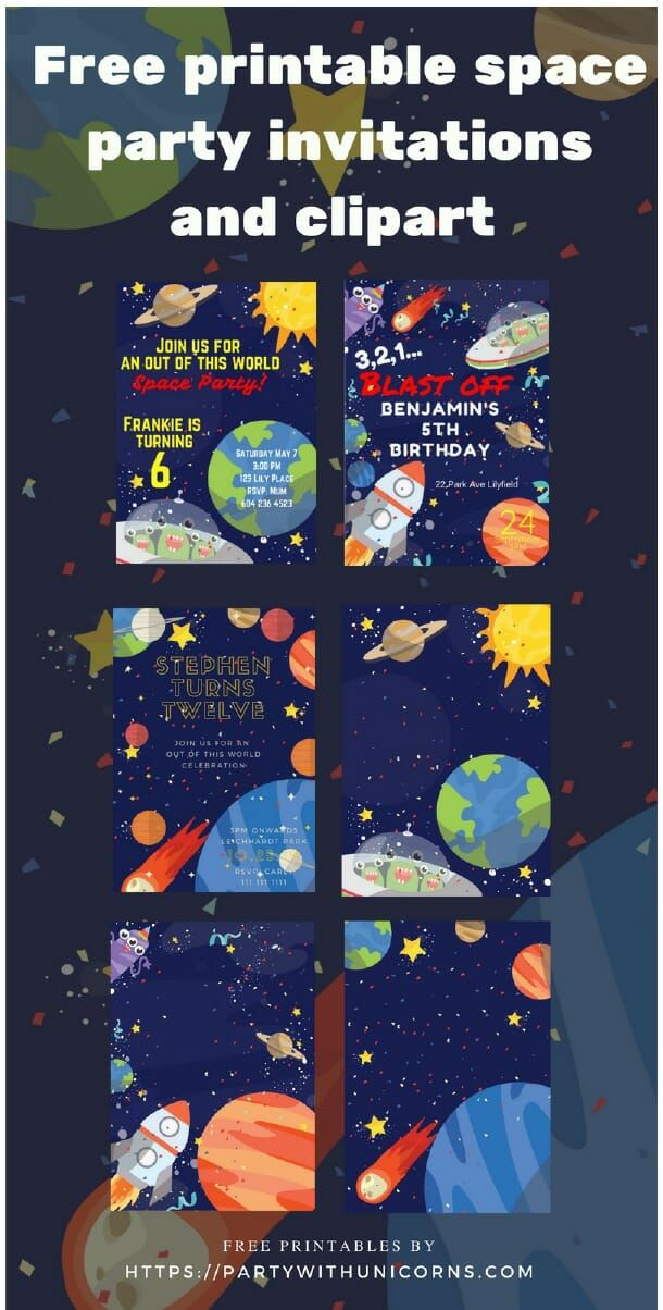 Free Printable Party Invitations And Clip Art For Your Next Space