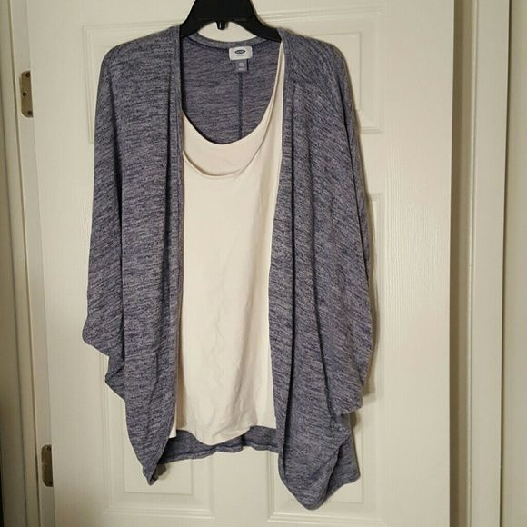 Cardigan sweater Very soft open sweater.  Has cocoon arms No tags but was never warn old nav Sweaters