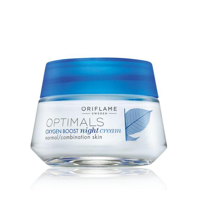 Crema de Noche Oxygen Boost para Piel Normal y Mixta Optimals #oriflame