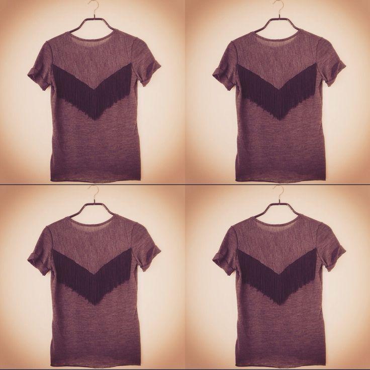 Maison M'anam fringe back jersey t-shirt