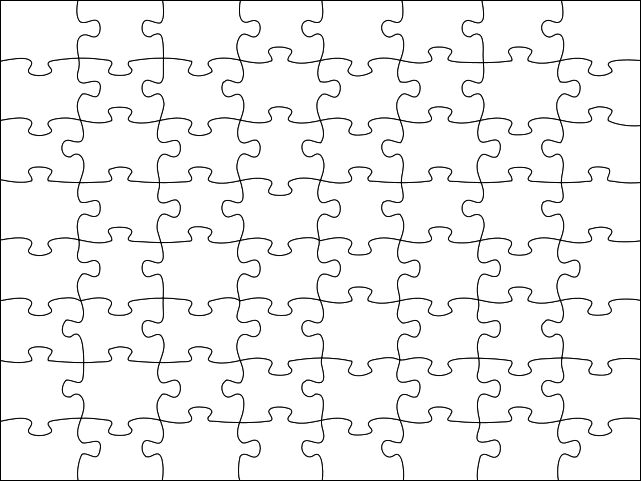 Liczba obrazów na temat Thinking, Memory \ Concentration for kids - blank puzzle template