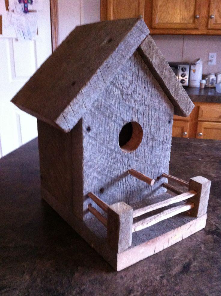 Barn wood birdhouse