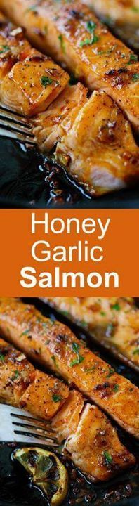 Honey Garlic Salmon Honey Garlic Salmon  garlicky sweet and...  Honey Garlic Salmon Honey Garlic Salmon  garlicky sweet and sticky salmon with simple ingredients. Takes 20 mins so good and great for tonights dinner | rasamalaysia.com Recipe : http://ift.tt/1hGiZgA And @ItsNutella  http://ift.tt/2v8iUYW