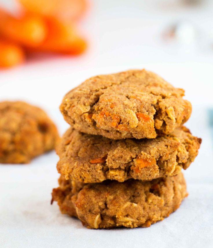 Υγιή Κανέλα Καρότο Cookies - χωρίς γλουτένη, vegan cookies που είναι υγρό…