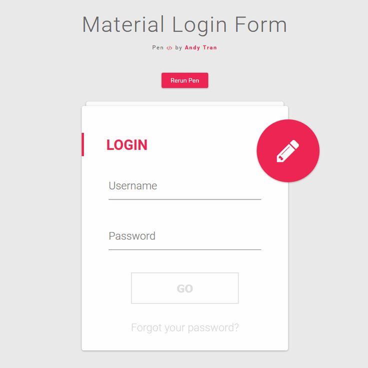 Tải về miễn phí 30 mẫu Login form (đăng nhập) cho website