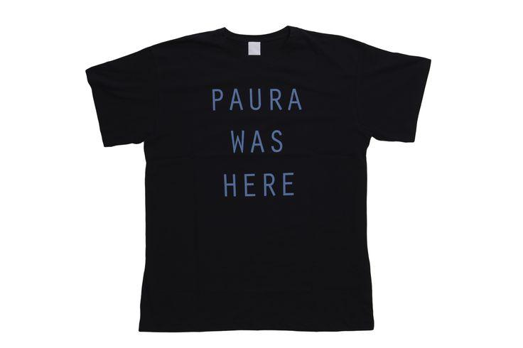 #PAURA - BENEDETTA T-SHIRT OVERSIZE - NAVY/BLUE WAS HERE