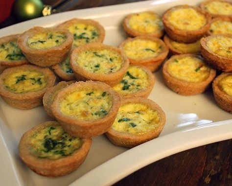 Make these tasty and popular appetizers on game day. Quiche Lorraine and Quiche Florentine are made with a gluten-free crust that bakes up golden brown and filled with a rich, flavorful center.