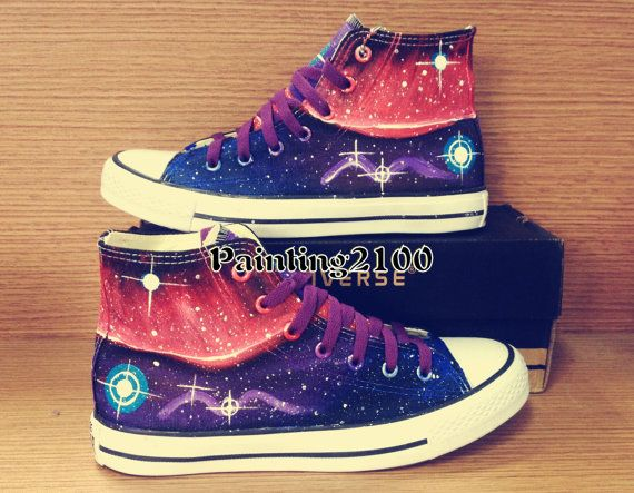 Hand painted Converse Galaxy Converse Custom by Painting2100