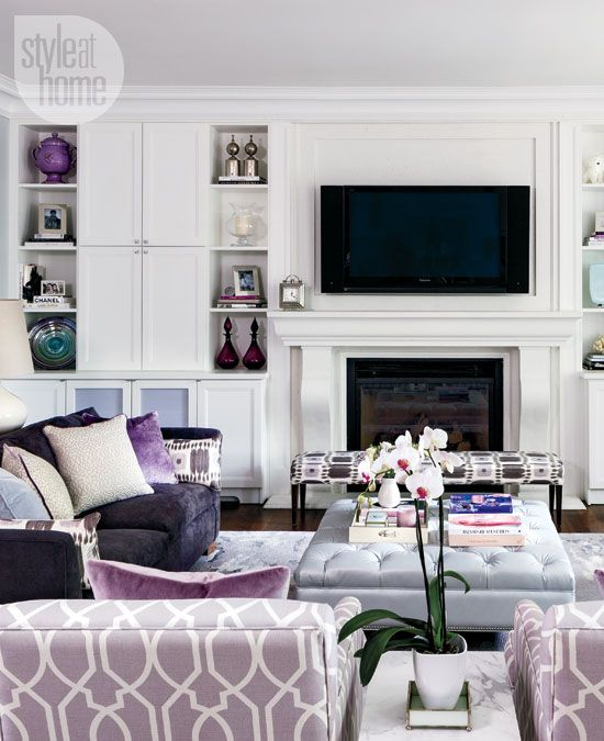 Interior: Refined elegance. Mauve Living RoomLavender Living RoomsPurple ...