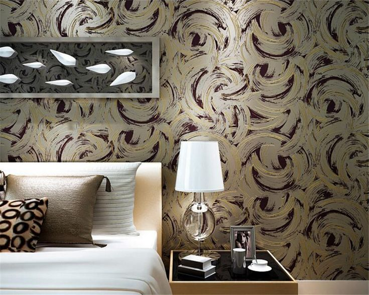 Beibehang Modern simple abstract silk nonwovens wallpaper living room bedroom television background wall wallpaper for walls 3 d