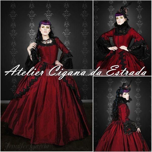 Vestido Pomba Gira Rainha das 7 Luxo Vermelho  #pombagira #pomba #gira #maria #padilha #mulambo #exu #mulher #rainha #7 #encruzilhadas #calunga #menina #praia #estrada #cigana #saia #rosa #caveira