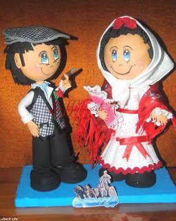Las Fofuchas De Hada: Fofuchos pareja de Chulapos ( Traje tipico de Madr...