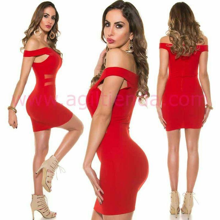 """#Sensual """"vestido corto de coctel"""" o #fiesta para un #estilo #chic y #sofisticado en todos tus #eventos gracias a su #diseñocasual y #elegante con #transparencias en su #escote de #hombros caidos y tejido elastico que #estiliza la @figura y colores varios para #complementar un #lookjoven todo el año. Encuentralo en """"Venta de Vestidos"""" de http://www.agiltienda.com/es/home/2577-vestido-de-coctel-con-transparencias.html #shop #online #olot #taradell @agiltienda.es"""