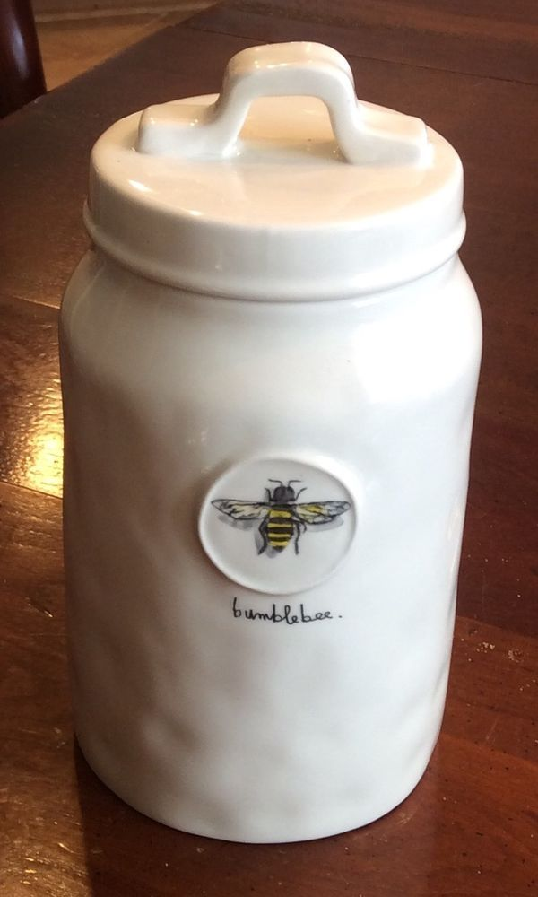 Rae Dunn Artisan Collection Bumblebee 8 Quot Canister With Sealing Lid By Magenta Magentaraedunn In