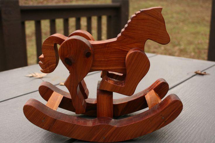 "Rocking Horse Decor Wood Handmade 8"" Tall, Pretty!"