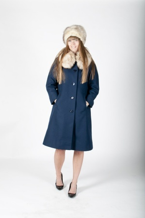 blue princess winter coat This is such a classic oldies thing!