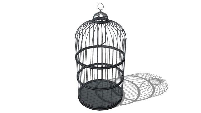 Cage oiseau maisons du monde r f prix 199 3d - Cage a oiseau decorative ...