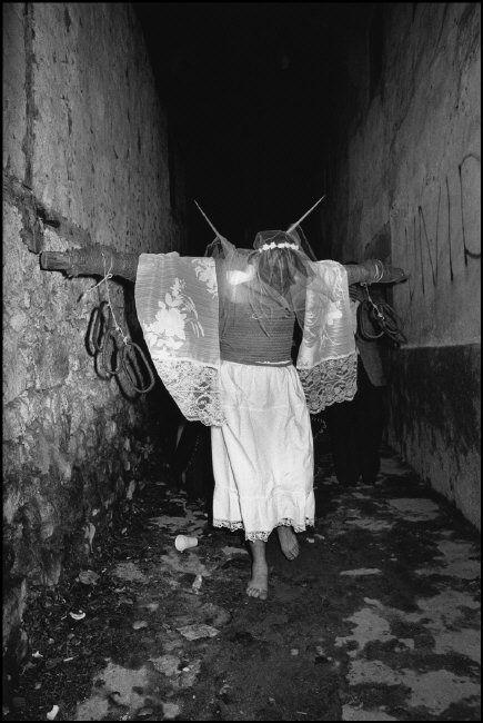 Cristina Garcia Rodero SPAIN. Valverde de la Vera. 1979. The impaled one. Via Magnum Photos
