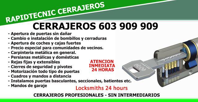 RapidTecnic Valencia 603 909 909: Cerrajeros de Moncada 603 909 909