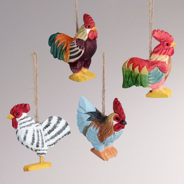 37 best Rooster Ornaments images on Pinterest | Christmas ...