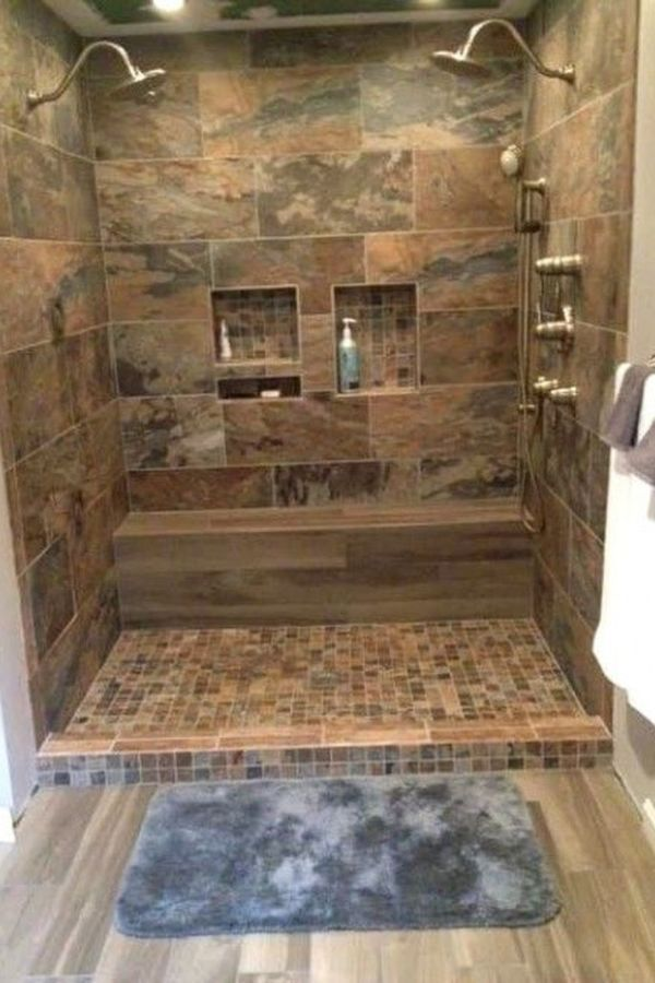 Amazing Rustic Master Bathroom Remodel Ideas 1 Beautiful Shower Tile Ideas For Your Bathroom Bathroom Remodel Small Shower Shower Remodel Bathrooms Remodel
