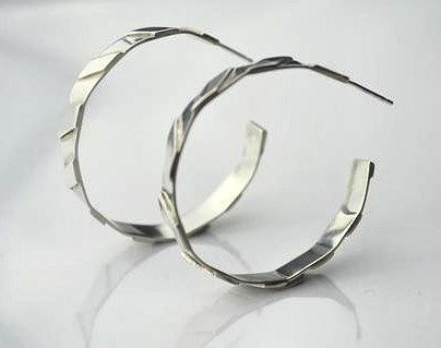 The Rosa Maxi Hoop #roisinconnolly #Jewellery #earrings #silver #shoponline #Finnieston