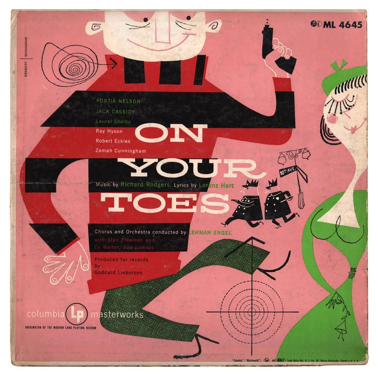 On Your Toes. LP Cover art by Abner Graboff.