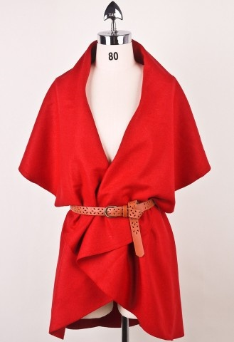 Vermillion cape for fall love the bright colors