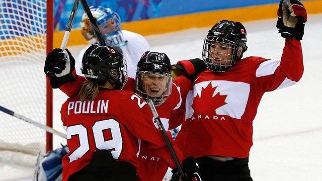 Bravo à l'équipe de hockey féminine pour leur deuxième médaille d'or aux Jeux Olympiques!! :D