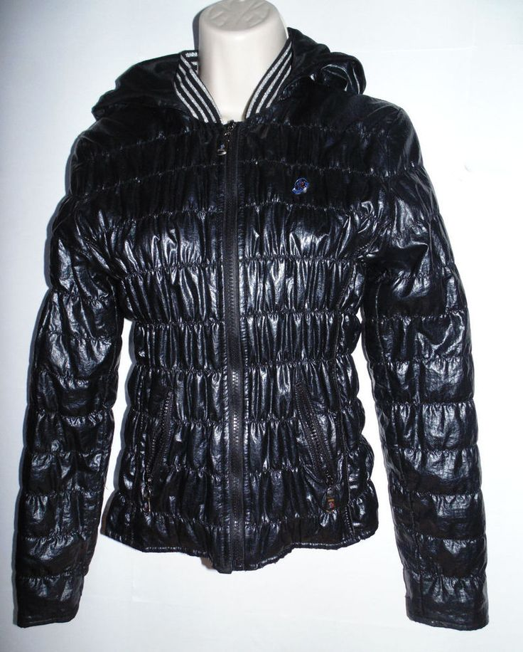 LADIES HOODED GENUINE MONCLER BLACK LIGHTWEIGHT QUILTED JACKET UK 8