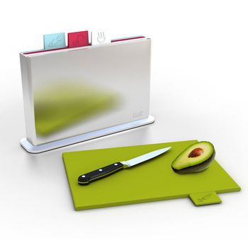 Indexed Cutting Boards: neat, clean, self-storing, food safety. who could ask for more?