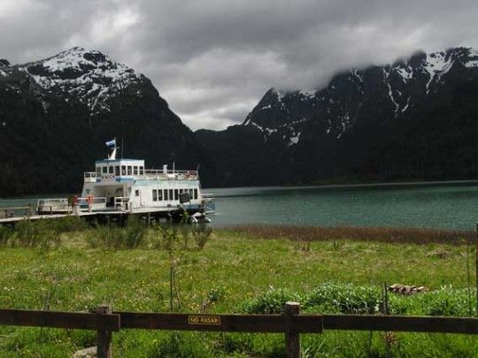The colorful lakes crossing from Bariloche, Argentina to Puerto Varas, Chile.