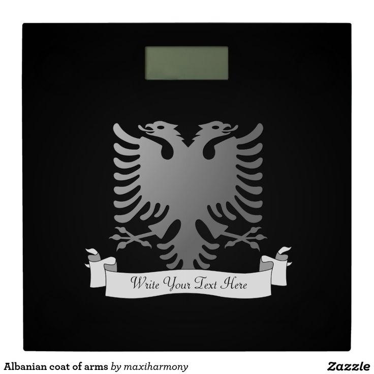 Albanian coat of arms bathroom scale